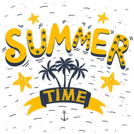 Summer time hand drawn typography poster greeting card bags hand drawn typography poster greeting card bags for t m4hsunfo