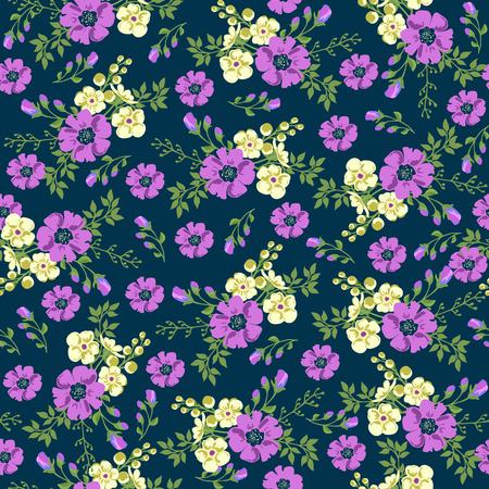 small flower: Seamless pattern in small flower. Romantic flower print. Ditsy floral. Floral seamless pattern. Vector Illustration