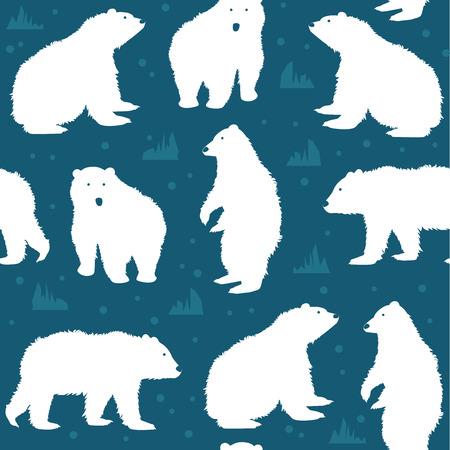 Seamless pattern with polar bear.  illustration 向量圖像