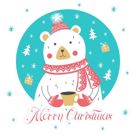 Christmas Card. Design Elements. Greeting card. Vector illustration