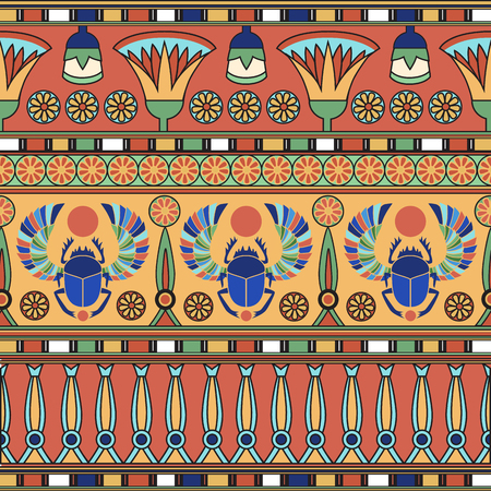 Egyptisch ornament. Set. Vector illustratie Stockfoto - 79090676