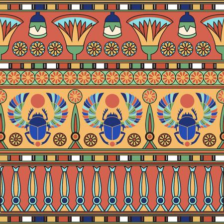 Ornement égyptien. Ensemble. Illustration vectorielle Banque d'images - 79090676