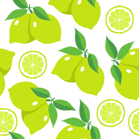 Seamless pattern with limes. Vector illustration