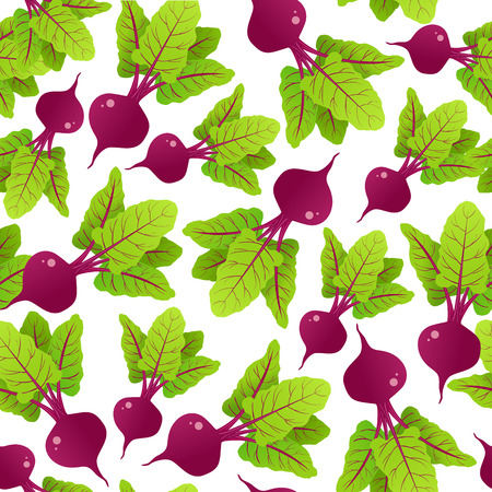 Seamless pattern with beetroot. Vector illustration