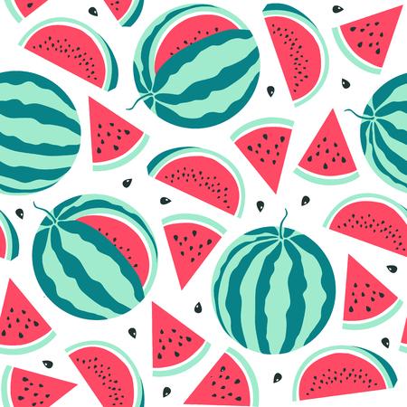 Watermelon  pattern. Vector Illustration