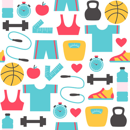 Fitness and sports pattern Illustration Ilustrace