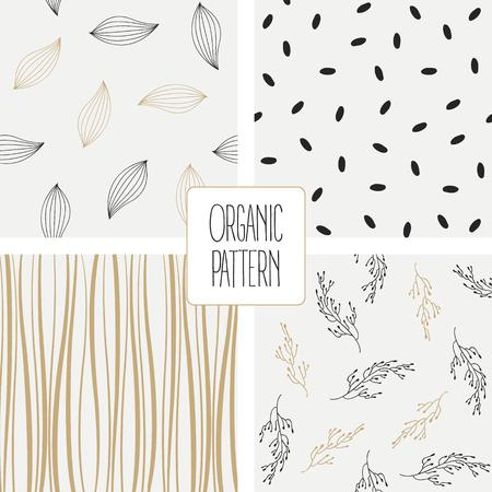 Imposta pattern organico. Illustrazione vettoriale