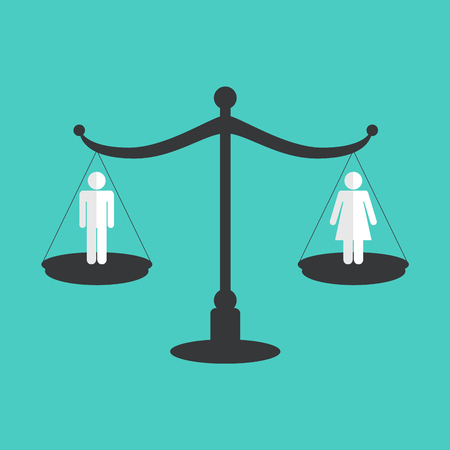 Gender equality concept. Vector illustration Çizim