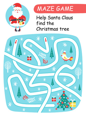 Help Santa Claus find the