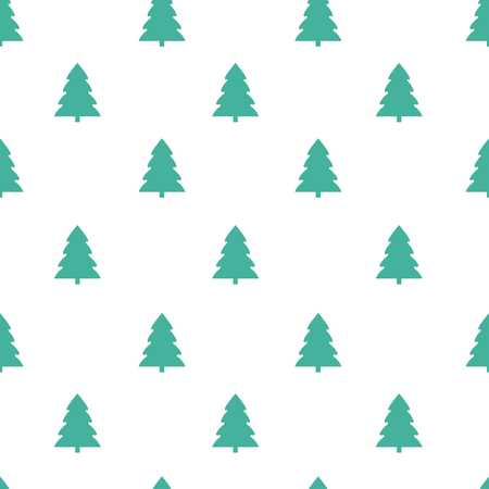 Seamless pattern with christmas tree on a white background. Vector illustration Stock Illustratie