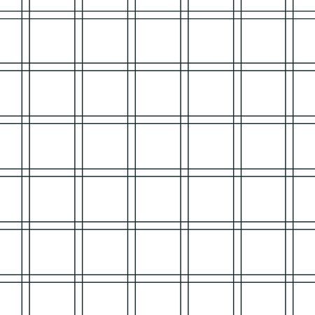 Textur aus einem Käfig, nahtloses Muster. Schwarz-weiß karierter Stoff. Weiße und rote Streifen. Geometrischer Hintergrund. Vektor-Illustration