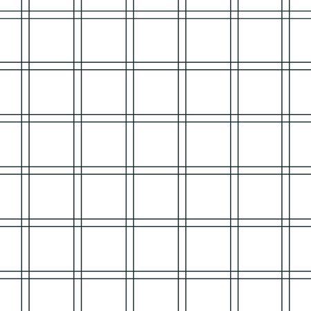 Texture da una gabbia, modello senza soluzione di continuità. Tessuto a scacchi bianco e nero. Strisce bianche e rosse. Sfondo geometrico. Illustrazione vettoriale