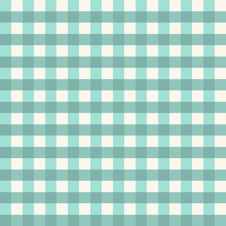 Texture from a cage, seamless pattern. Blue checkered fabric. White and red stripes. Geometric background. Vector illustration