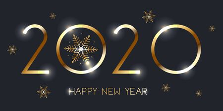 Felice Anno Nuovo 2020. Illustrazione vettoriale eps 10