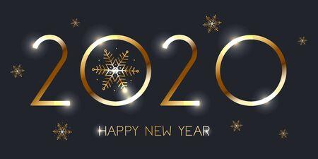 Feliz año nuevo 2020.Ilustración de vector eps 10