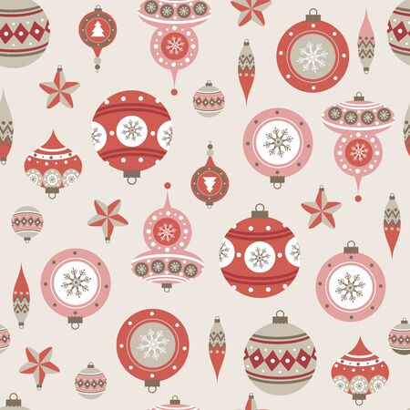Seamless pattern with christmas balls. Vector illustrations 向量圖像