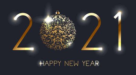 Happy New Year 2021. Vector illustration