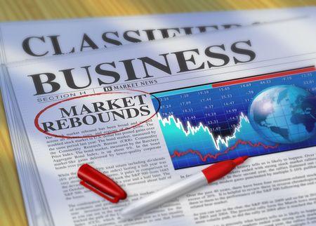 Market Rebounds Stock Photo