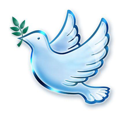 dove in flight: Dove