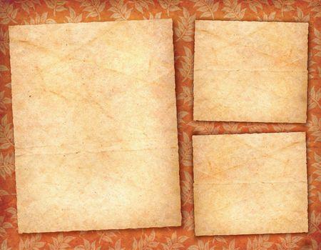 3 parchment cards