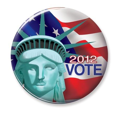 2012 Vote Button Stock Photo