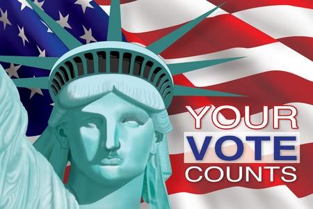 free vote: Your Vote Counts Stock Photo