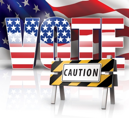 Voting Caution Stock Photo - 14932235