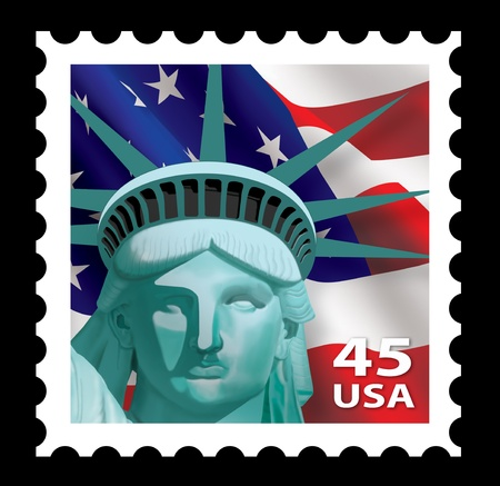 estatua de la justicia: Liberty Stamp