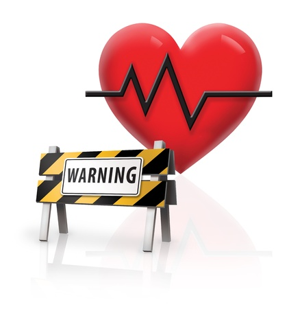 heart monitor: Health Warning