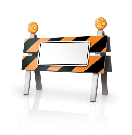 Warning Barrier Stock Photo