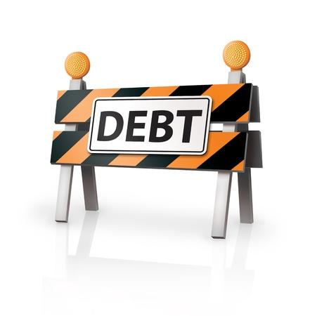 Debt Warning Stock Photo