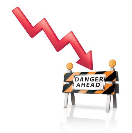 Danger Ahead  Stock Photo