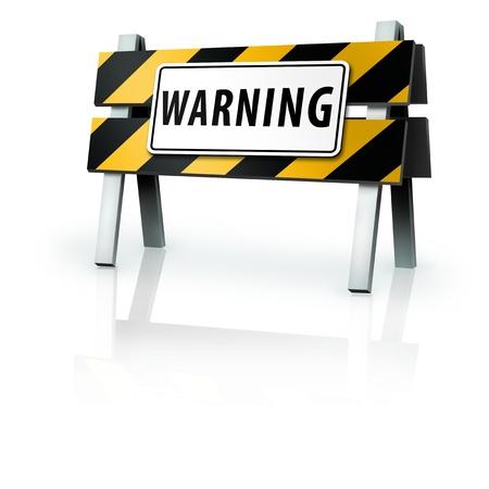 Warning Barrier Banco de Imagens