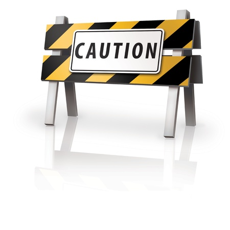 Caution Barrier Stock Photo