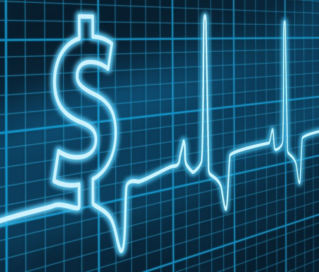 ecg: $ ekg Blue Stock Photo