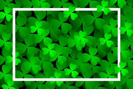 Clover leaves background. Suitable for Saint Patrick's Day, nature concept, and other. Vector Illustration Ilustracja