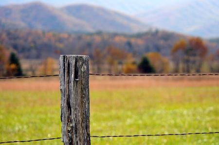 fencepost: Fence Post Stock Photo