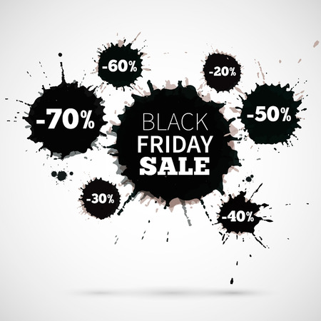 Abstract Vector Illustration Black Friday Sale for your business artwork. Big discount