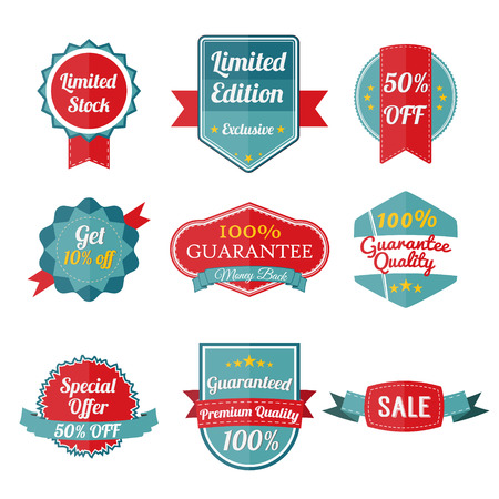labels: Set Of SALE stickers on white background. Banners and labels. Vector illustration Illustration