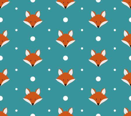 zorro: Modelo incons�til con los zorros lindos. Ilustraci�n vectorial Vectores
