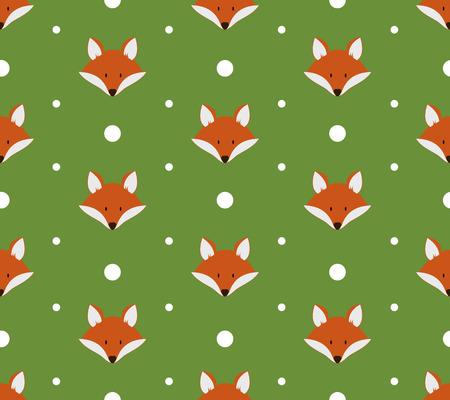 zorro: Modelo inconsútil con los zorros lindos. Ilustración vectorial Vectores
