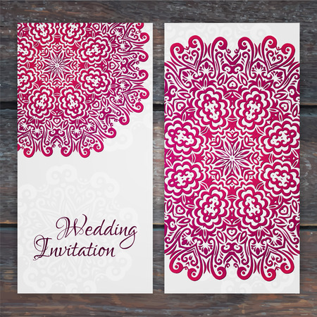 baby birthday: Lacy vector wedding card template. Romantic vintage wedding invitation. Abstract circle floral ornament. Good for birthday invitation or baby shower invitation. ethnic design