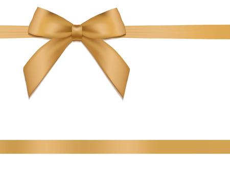 Brillant vacances ruban de satin d'or sur fond blanc. Vecteur Banque d'images - 40269205