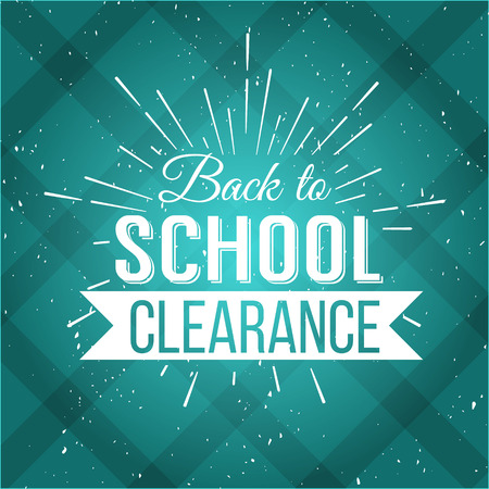 back to school: Back to School Typographic - Vintage Style Back to School Hot Deals Design Layout In Vector Format Illustration
