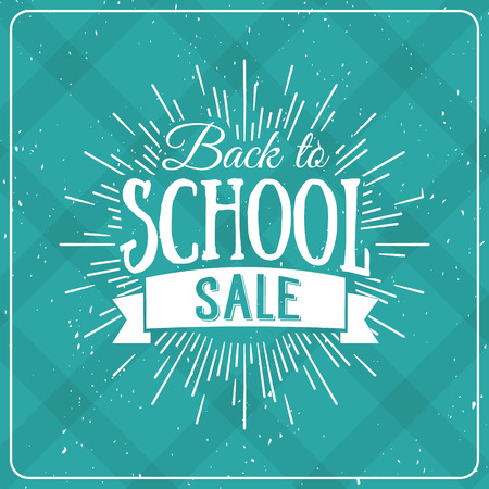 Back to School Typographic - Vintage Style Back to School Hot Deals Design Layout In Vector Format Çizim