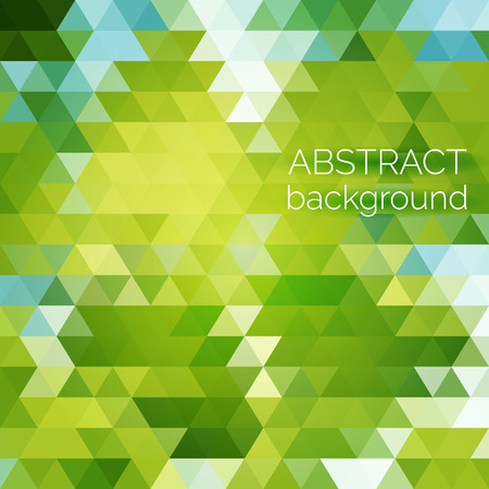 be the identity: Abstract vector geometric background. Green fresh background. Backdrop design element. Triangle backdrop can be used for web page background, identity style, printing, etc.