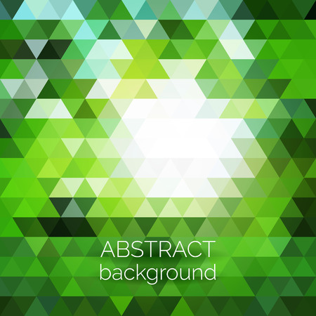 page design: Abstract vector geometric background. Green fresh background. Backdrop design element. Triangle backdrop can be used for web page background, identity style, printing, etc.