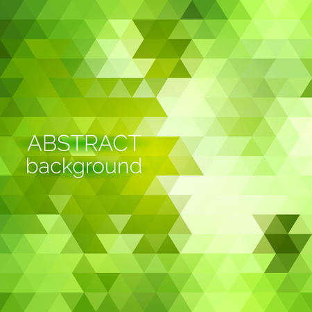Abstract vector geometric background. Green fresh background. Backdrop design element. Triangle backdrop can be used for web page background, identity style, printing, etc.