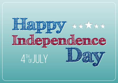 independencia: Postal de la tarjeta de feliz día de la independencia de Estados Unidos de América, 4 de julio, 1776 a 2015. Cartel vector.