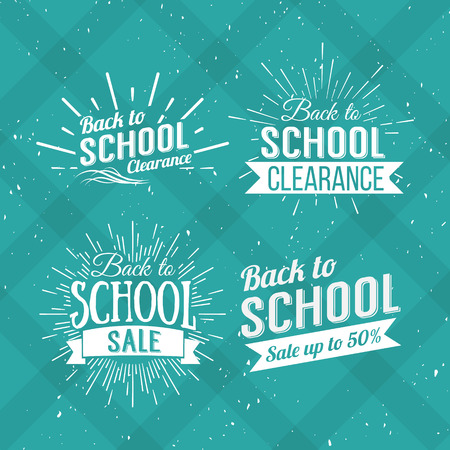 school: Back to School Typographic - Vintage Style Back to School Hot Deals Design Layout In Vector Format Illustration